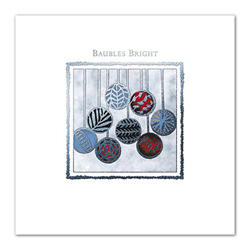 Baubles Bright : Greeting Card