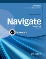 Image of Navigate : Elementary A2 : Workbook Without Key + Audio Cd