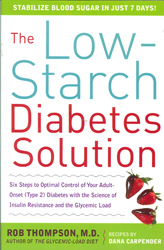 Image of Low Starch Diabetes Solution 6 Steps To Optimal Control Of Your Adult Onset Type 2 Diabetes