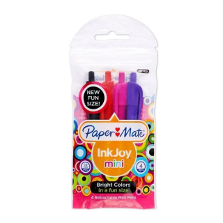 Pen Paper Mate Inkjoy 100rt Mini 4 Pack