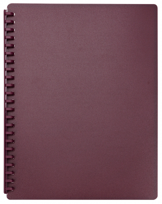 Display Book Fm A4 Refillable 20p Burgundy