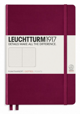 Image of Journal Leuchtturm 1917 Medium Lined Port Red