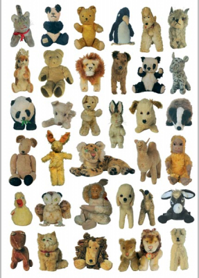 Image of Vintage Stuffed Toys Wrapping Paper