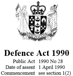 Defence Act 1990 Reprint As At 7 December 2014