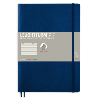 Image of Journal Leuchtturm 1917 Softcover B5 Lined Navy