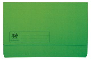 Image of Document Wallet Fm Foolscap Green