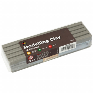 Image of Modelling Clay Ec 500gm Grey
