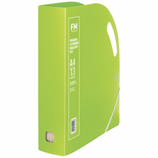 Image of Magazine File Fm Premium Expanding 13 Pocket Lime Green