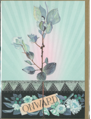 Image of Onward Blue Flowers : Greeting Card