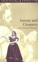 Image of Antony And Cleopatra : Shakespeare In Production