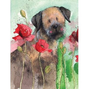 Image of Border Terrier : Small Notebook