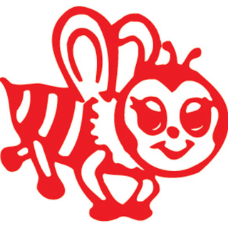 Image of Stamp Xstamper Vx 11366 Bee Red