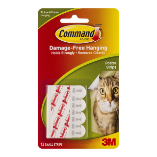 Image of Poster Strips 3m Command Small 12 Pack