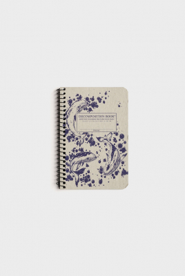 Image of Decomposition Spiral Notebook Pocket Ruled Humpback Whales