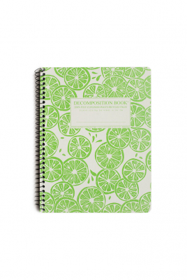 Image of Decomposition Spiral Notebook Large Ruled Limes