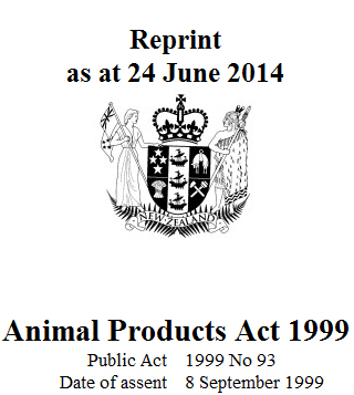 Animal Products Act 1999 : Reprint As At 1 March 2016