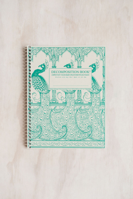 Image of Decomposition Spiral Notebook Large Plain Peacocks