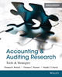 Accounting And Auditing Research : Tools And Strategies