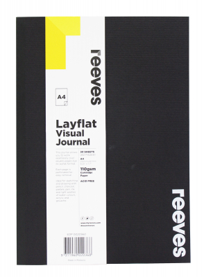 Image of Visual Diary Reeves Layflat A4 Black