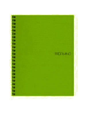 Image of Notebook Fabriano Ecoqua Spiral A5 Blank Lime