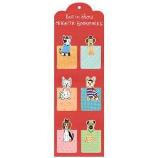Image of Galison Dogs Best In Show Magnetic Set Of 6 : Bookmarks