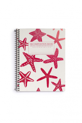 Image of Decomposition Spiral Notebook Large Ruled Starfish