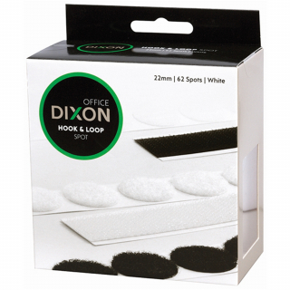 Image of Velcro Dixon Hook And Loop Spot 22mm 62 Spots White