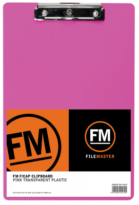 Image of Clipboard Fm Neon Pink Transparent