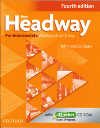 Image of New Headway : Pre Intermediate Workbook And Ichecker With Key 4th Edition