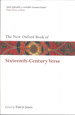 Image of New Oxford Book Of Sixteenth Century Verse
