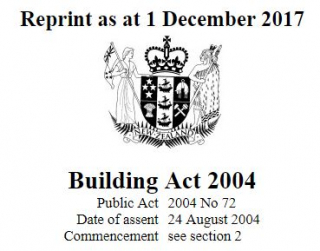 Building Act 2004 : Reprint As At 1 December 2017