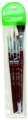Image of Paint Brush Set Utility Red Sable Assorted 21-v