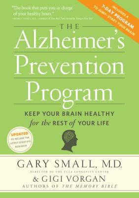 Image of Alzheimer's Prevention Program : Keep Your Brain Healthy Forthe Rest Of Your Life