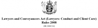 Image of Lawyers & Conveyancers Act Rules 2008 Lawyers : Conduct And Client Care As At 1 July 2016