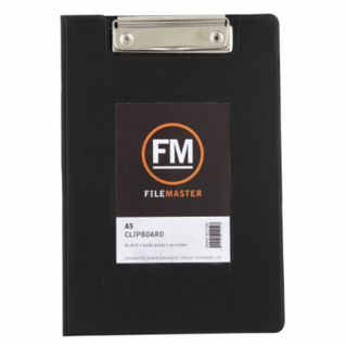 Image of Clipboard Fm A5 Pvc With Flap Black