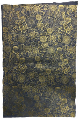Image of Art Decor Gold On Navy : Sheet Wrap
