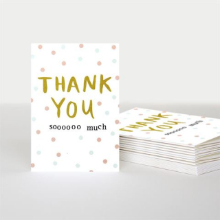 Image of Thank You Soooooo Much : Set Of 10 Greeting Cards