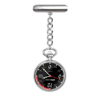 Image of Nurses Watch Elitecare Fob Silver Colour Series