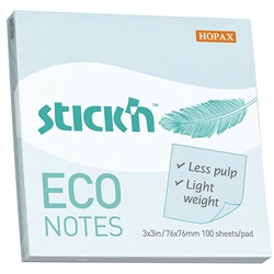 Image of Stick'n Notes Eco Blue Pastel 100 Pack