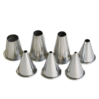 Piping Nozzle Metal Plain 7 Piece Set