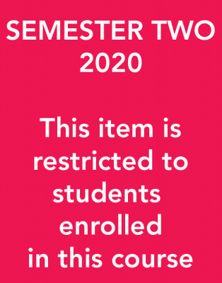 Image of Museums 700 / 704b Exhibiting Cultures Coursebook Semester Two 2020