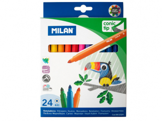 Image of Marker Milan Conic Tip Assorted 24 Pact