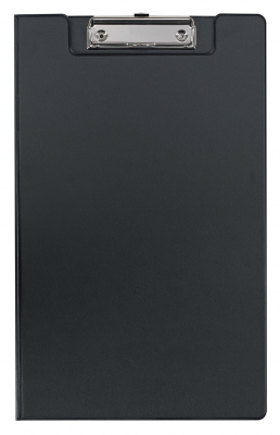 Image of Clipboard Fm Pvc With Flap Foolscap Black