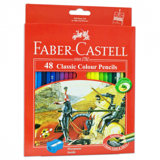 Image of Coloured Pencils Faber Castell Classic 48 Pack