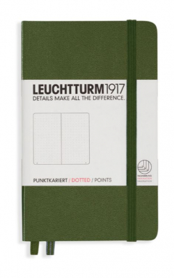 Image of Journal Leuchtturm 1917 Pocket Dotted Army