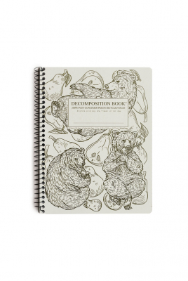 Decomposition Spiral Notebook Large Ruled Pear Bears