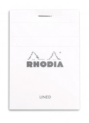 Image of Pad Bloc Rhodia A7 Lined White