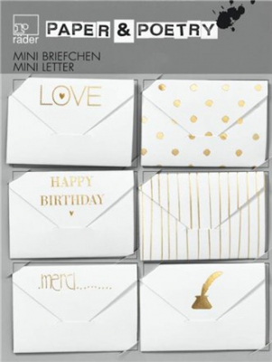Image of Mini Notes Gold Assorted Set 6