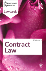 Contract Lawcards : 2012-2013