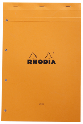 Image of Pad Bloc Rhodia A4+ Lined Orange